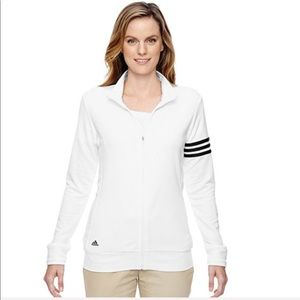 Adidas Women Climalite 3 Stripes Full-Zip Jacket